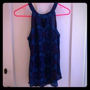 Flowy Aztecs pattern top